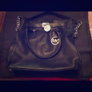 Authentic Michael Kors Navy Blue Leather Bag